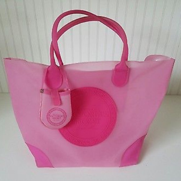 051814d534 Victoria's Secret RARE Rubber Large Tote Bag